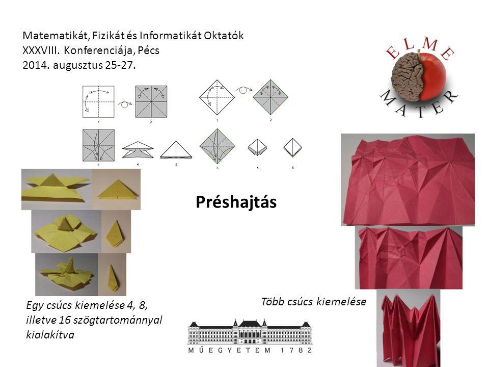 Matematikát, Fizikát és Informatikát Oktatók XXXVIII. Konferenciája, Pécs 2014. augusztus 25-27. Egy csúcs kiemelése 4, 8, illetve 16 szögtartománnyal