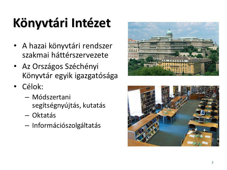 Szolgáltatásfejlesztési modellek Együttműködés a Nemzeti Művelődési Intézettel Modellek: – Könyvtári tudásközpont – Köz -K önyv -T ér – Olvasókör 3