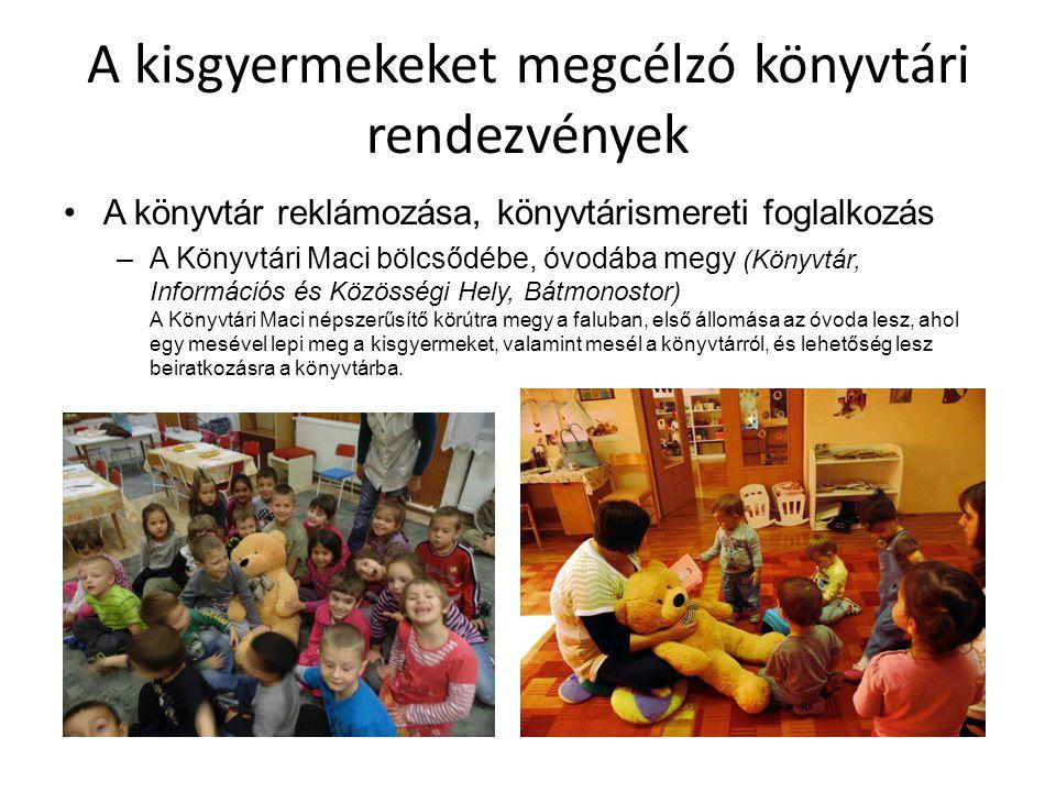 """A kisgyermekeket megcélzó könyvtári rendezvények Zenés, mozgásos foglalkozás – """"Sünizene , """"Babatorna (Pákolitz István Városi Könyvtár, Paks) Két nagyon sikeres, zenés, mozgásos játékos foglalkozás a legkisebbeknek és s züleiknek egyaránt."""
