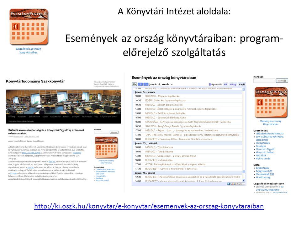 """Az """"Országos könyvtári napok honlapja http://osszefogas.kjmk.hu/"""