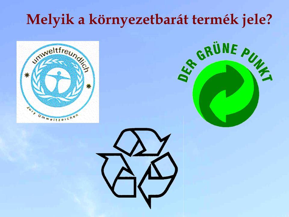 Melyik a környezetbarát termék jele?