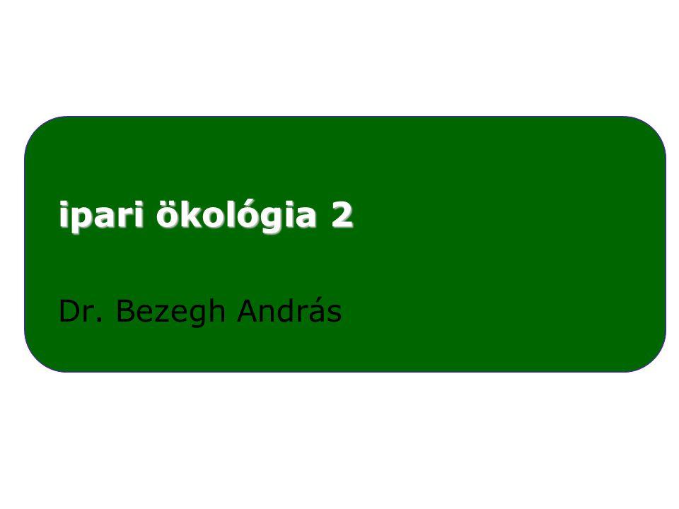 ipari ökológia 2 Dr. Bezegh András