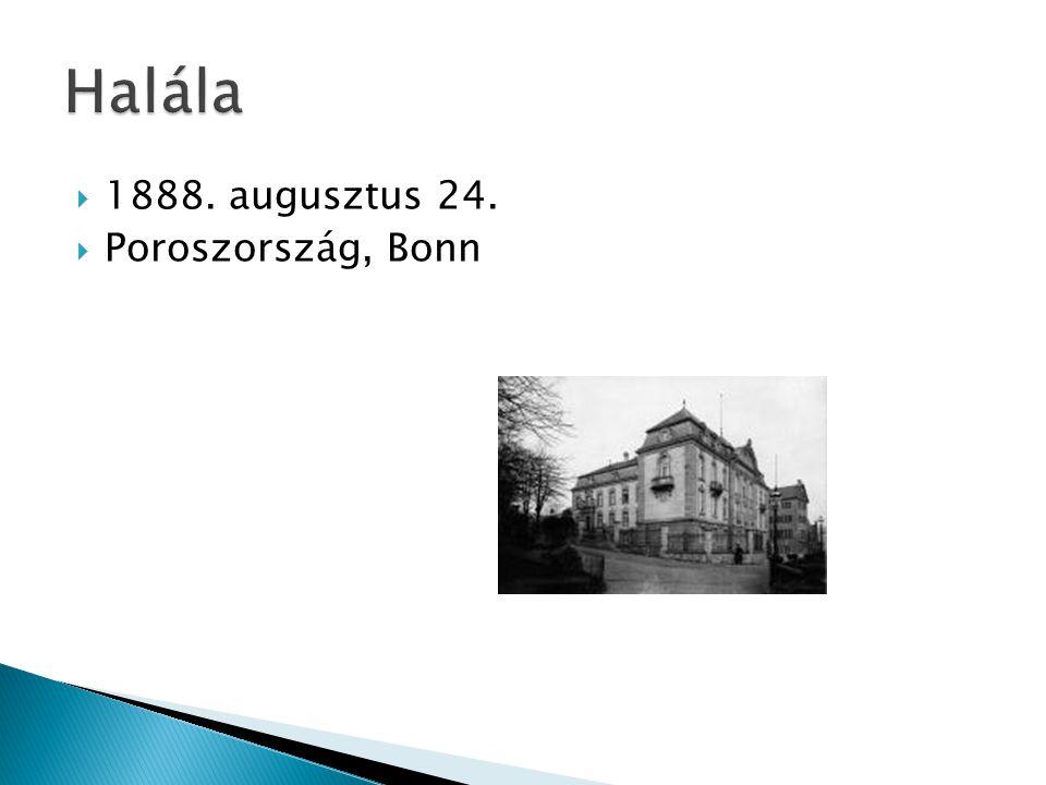  1888. augusztus 24.  Poroszország, Bonn