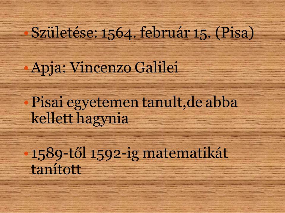 Születése: 1564.február 15.