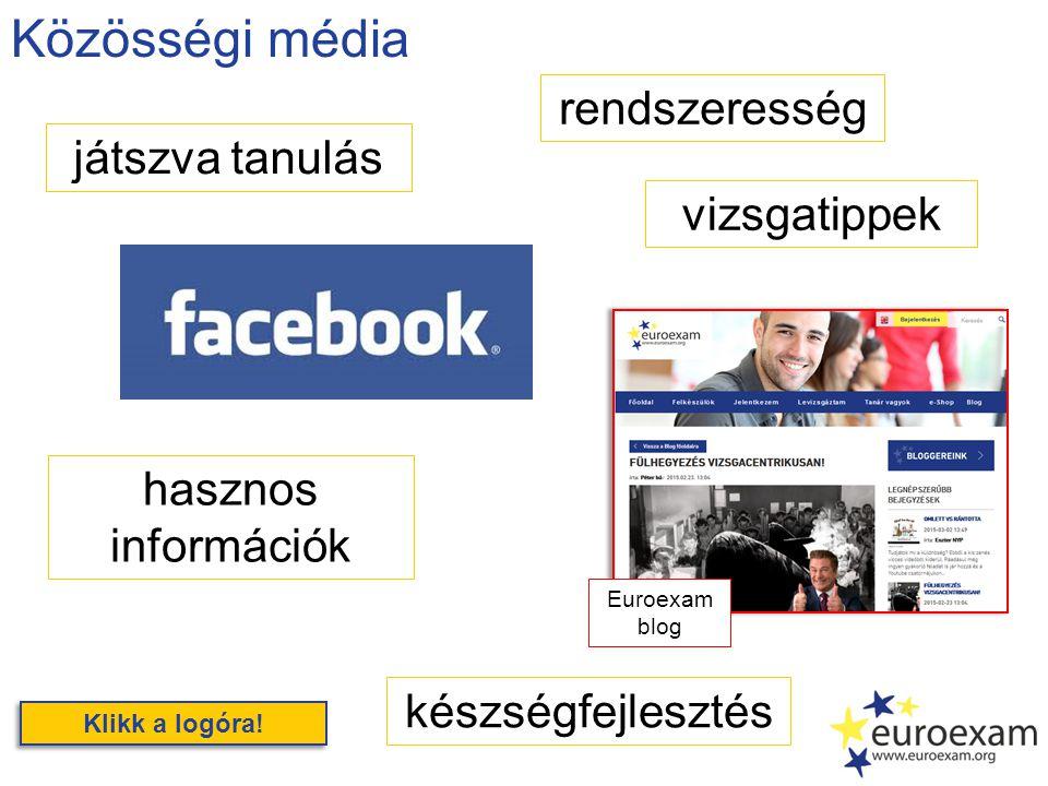 Közösségi média játszva tanulás rendszeresség készségfejlesztés Klikk a logóra.
