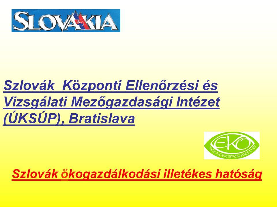 Szlovák Központi Ellenőrzési és Vizsgálati Mezőgazdasági Intézet (ÚKSÚP), Bratislava Szlovák ökogazdálkodási illetékes hatóság