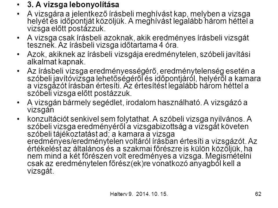 Halterv 9. 2014. 10. 15.62 3.