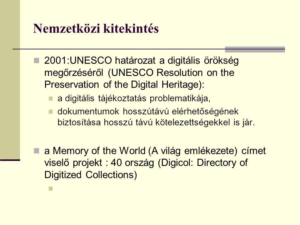 Telematikai pályázatok NKÖM telematikai pályázatai Első lépések a tervszerű digitalizálásra 3 éves digitalizálási terv készítése Állományvédelmi célok Kulturális értékek hozzáférhetővé tétele Hungarológiai alapkönyvtár összeállítása