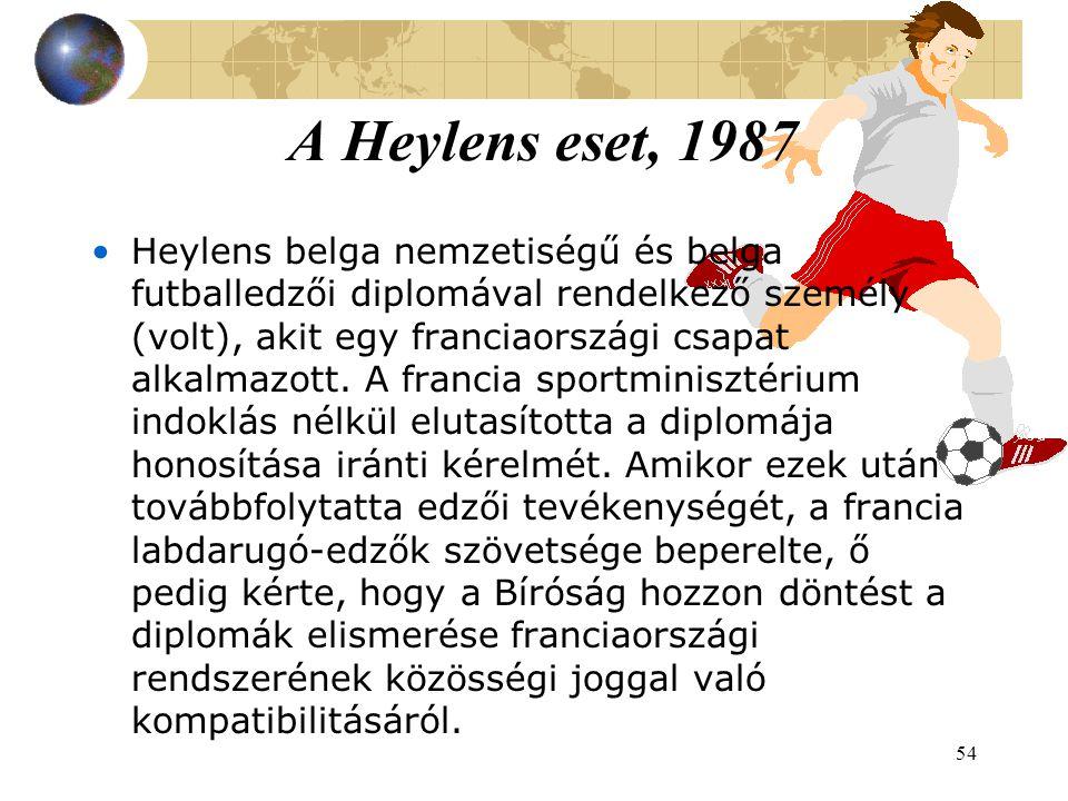 54 Heylens belga nemzetiségű és belga futballedzői diplomával rendelkező személy (volt), akit egy franciaországi csapat alkalmazott.