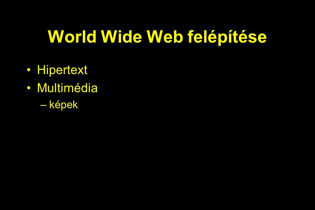 World Wide Web felépítése Hipertext Multimédia –képek