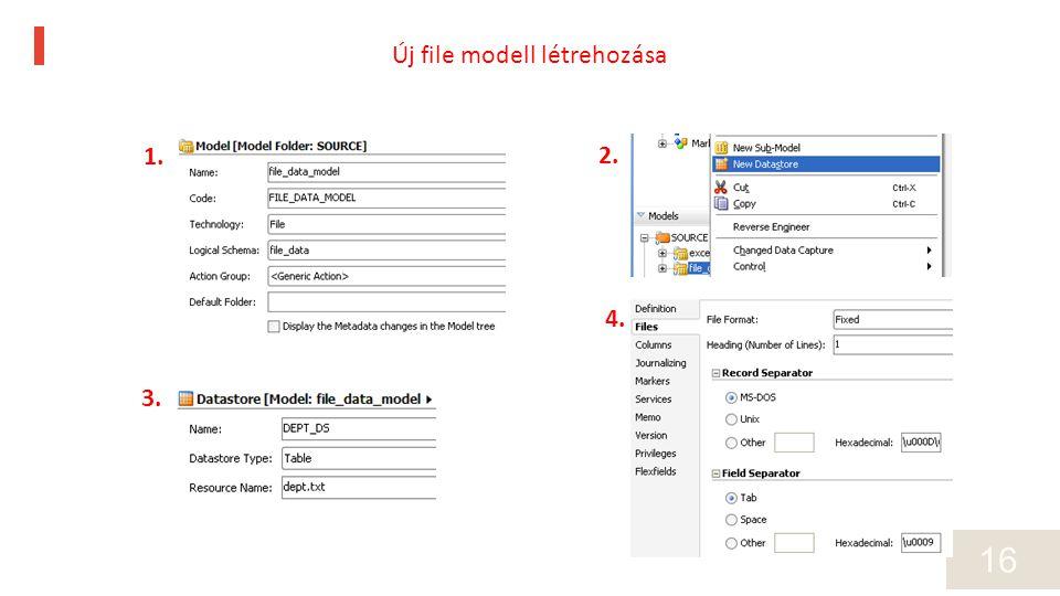16 1. 2. 3. 4. Új file modell létrehozása