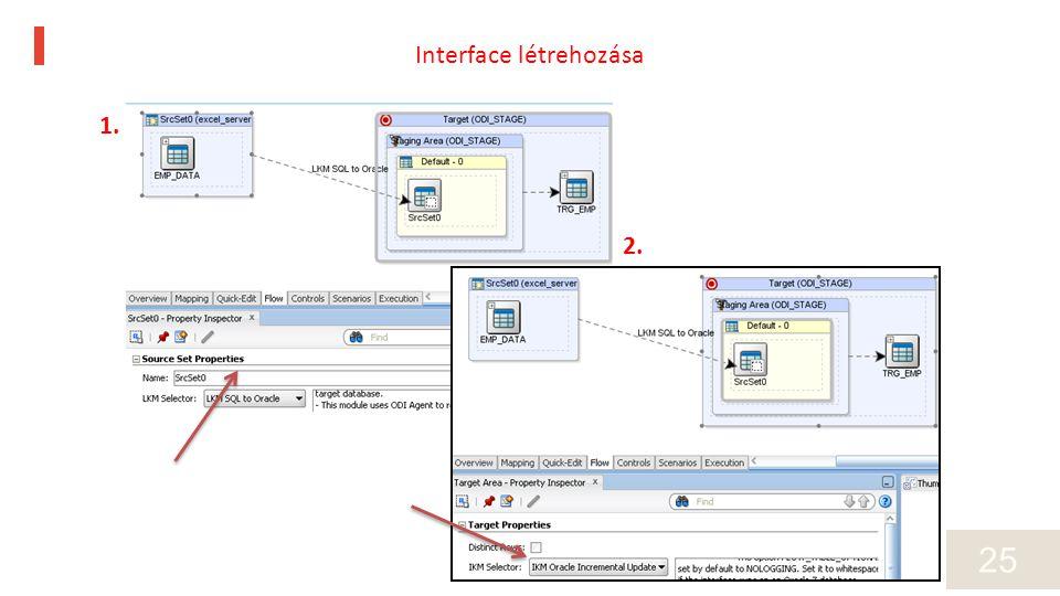 25 1. 2. Interface létrehozása