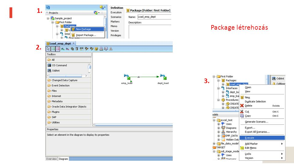 28 1. 2. 3. Package létrehozás