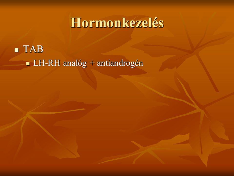 Hormonkezelés TAB TAB LH-RH analóg + antiandrogén LH-RH analóg + antiandrogén