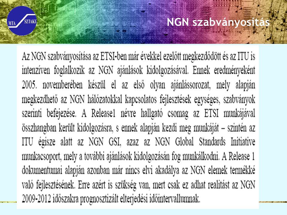 NGN szabványosítás