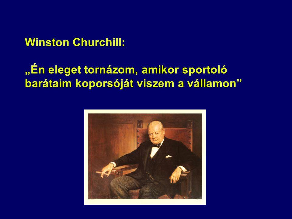 """Winston Churchill: """"Én eleget tornázom, amikor sportoló barátaim koporsóját viszem a vállamon"""""""