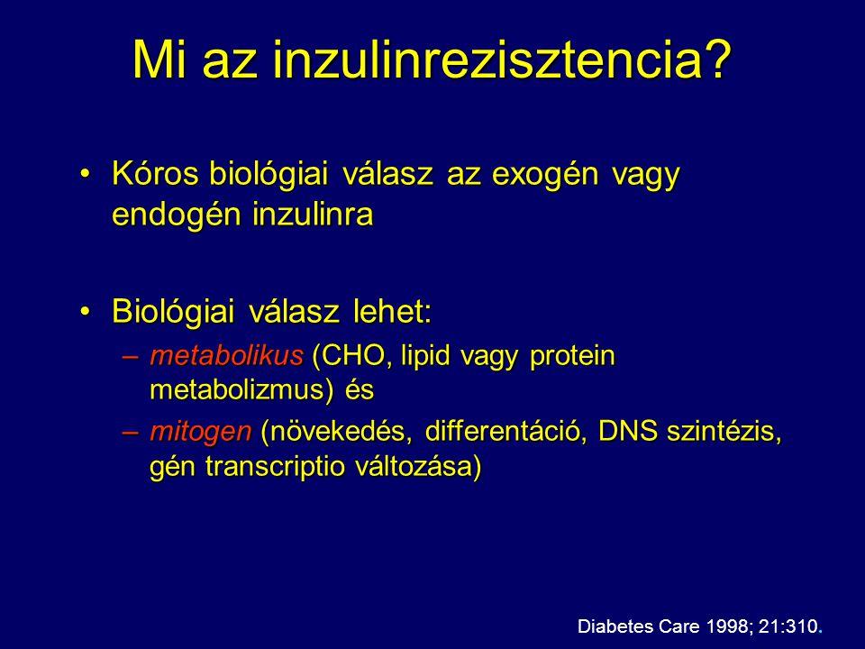 Mi az inzulinrezisztencia? Kóros biológiai válasz az exogén vagy endogén inzulinraKóros biológiai válasz az exogén vagy endogén inzulinra Biológiai vá