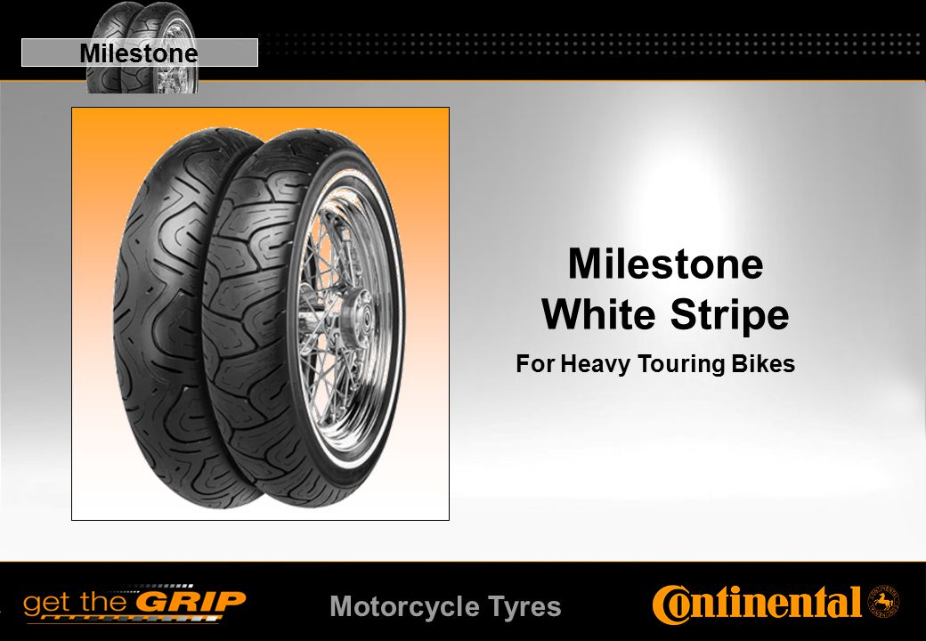 Motorcycle Tyres Milestone White Stripe For Heavy Touring Bikes Milestone