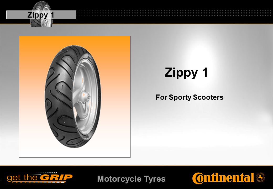 Motorcycle Tyres Zippy 1 For Sporty Scooters Zippy 1