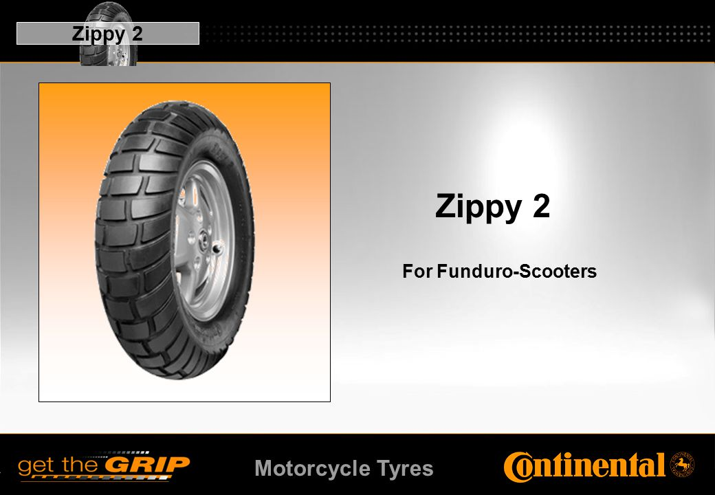 Motorcycle Tyres Zippy 2 For Funduro-Scooters Zippy 2