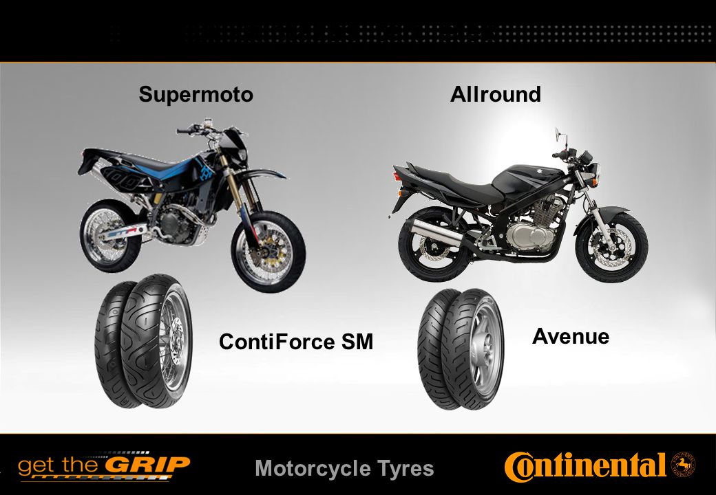 Motorcycle Tyres Supermoto Allround ContiForce SM Avenue Alkalmazási területek
