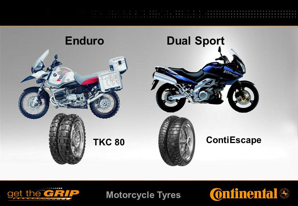 Motorcycle Tyres Enduro Dual Sport TKC 80 ContiEscape Alkalmazási területek