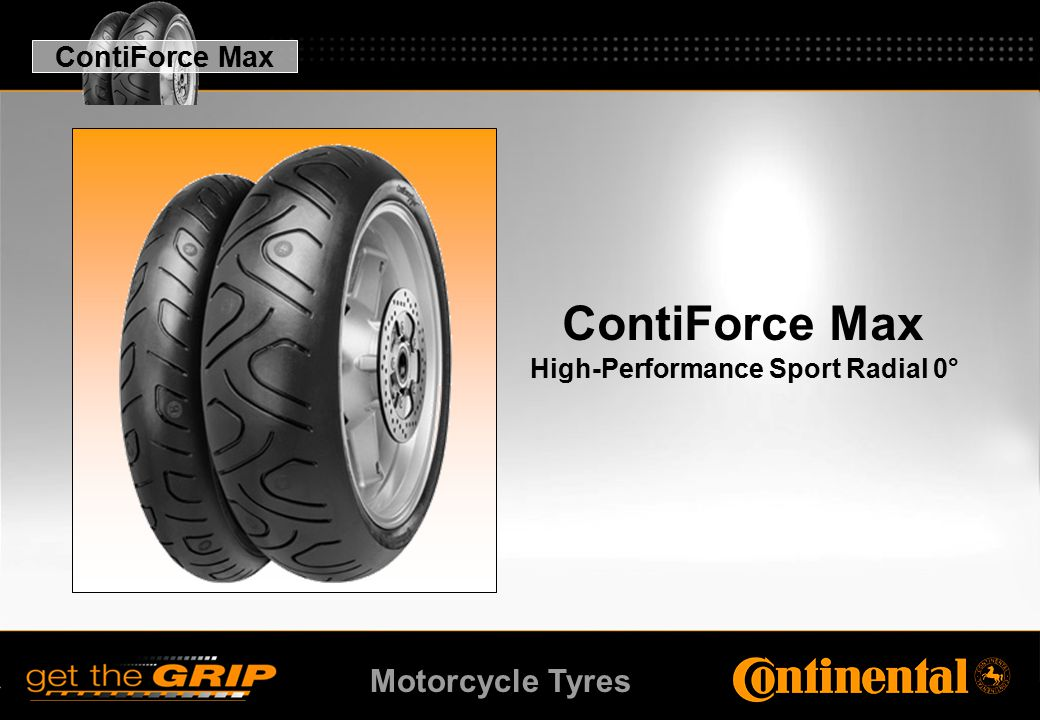 Motorcycle Tyres ContiForce Max High-Performance Sport Radial 0° ContiForce Max