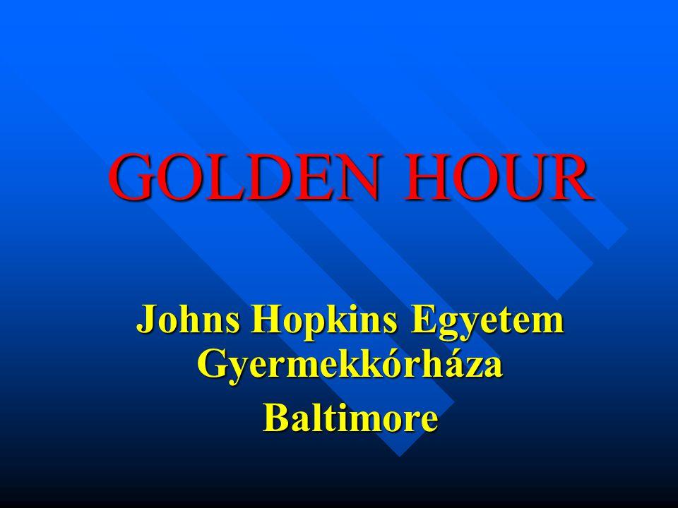 GOLDEN HOUR Johns Hopkins Egyetem Gyermekkórháza Baltimore