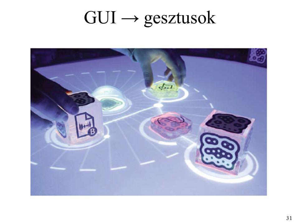 31 GUI → gesztusok