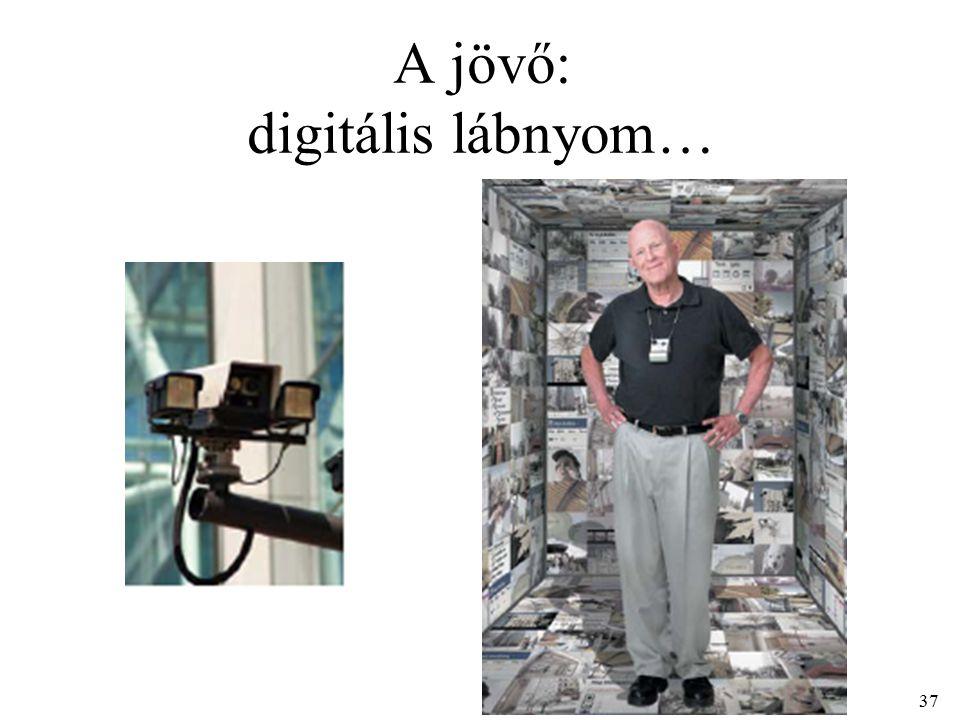 37 A jövő: digitális lábnyom…