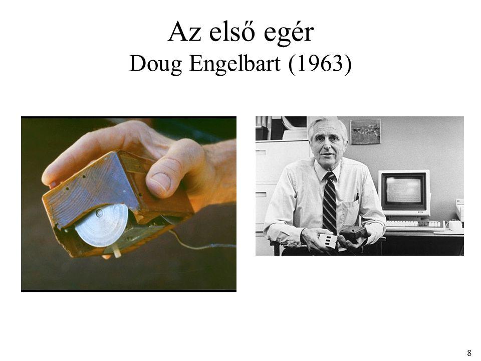 Az első egér Doug Engelbart (1963) 8