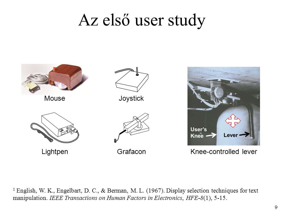Az első user study 1 English, W. K., Engelbart, D.