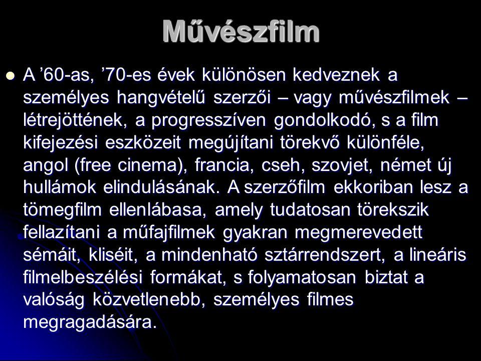 A '60-as, '70-es évek különösen kedveznek a személyes hangvételű szerzői – vagy művészfilmek – létrejöttének, a progresszíven gondolkodó, s a film kif
