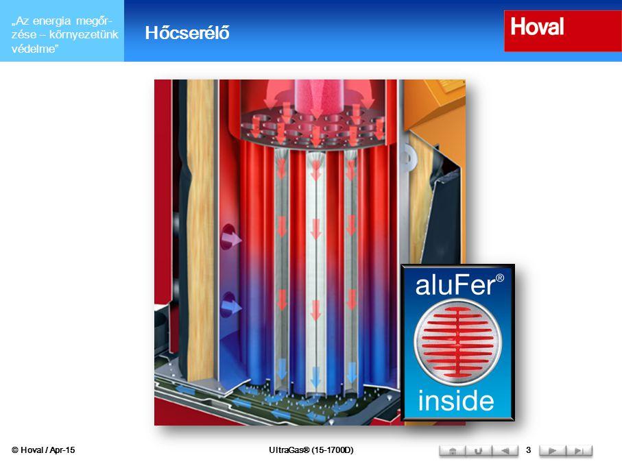 """""""Az energia megőr- zése – környezetünk védelme aluFer ® hőcserélő  Minél nagyobb mértékben sikerül lekondenzálni a füstgázban lévő vízgőzt, annál magasabb a kazán hatásfoka."""