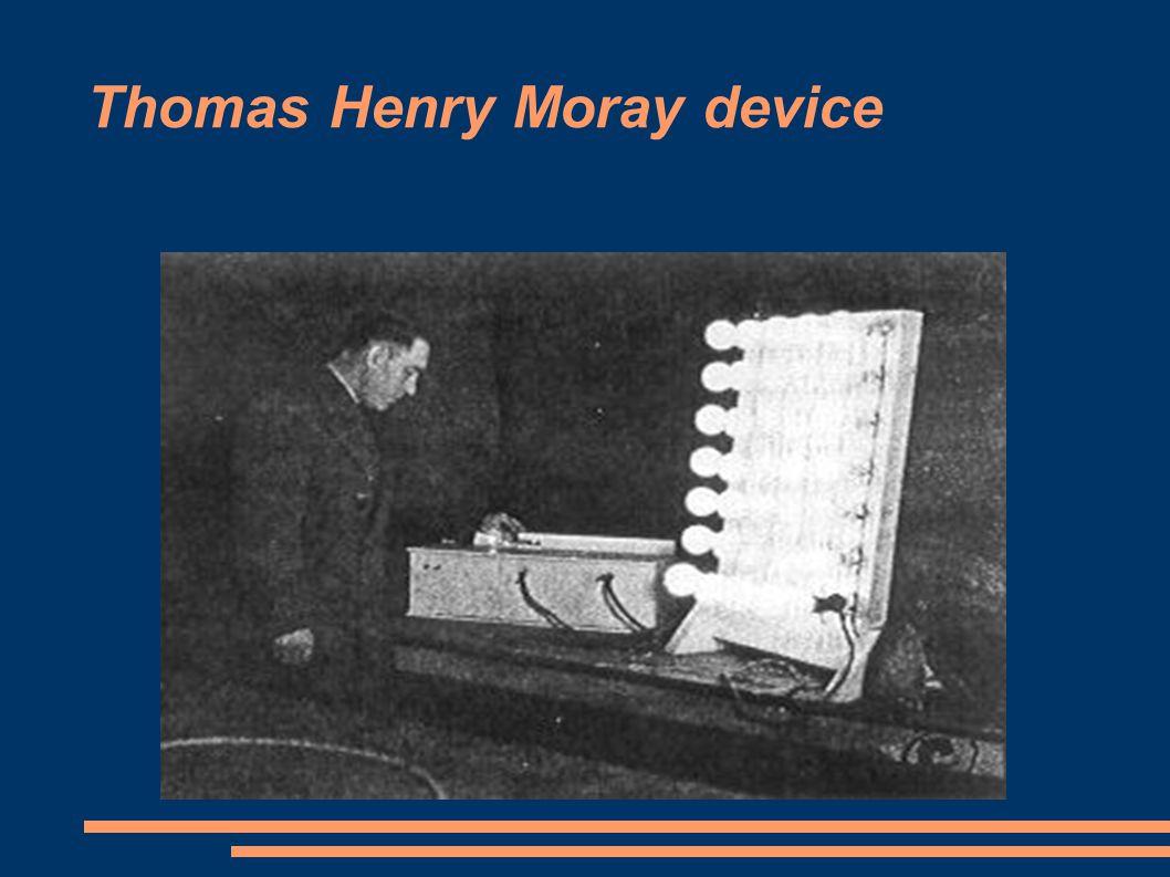 Thomas Henry Moray device