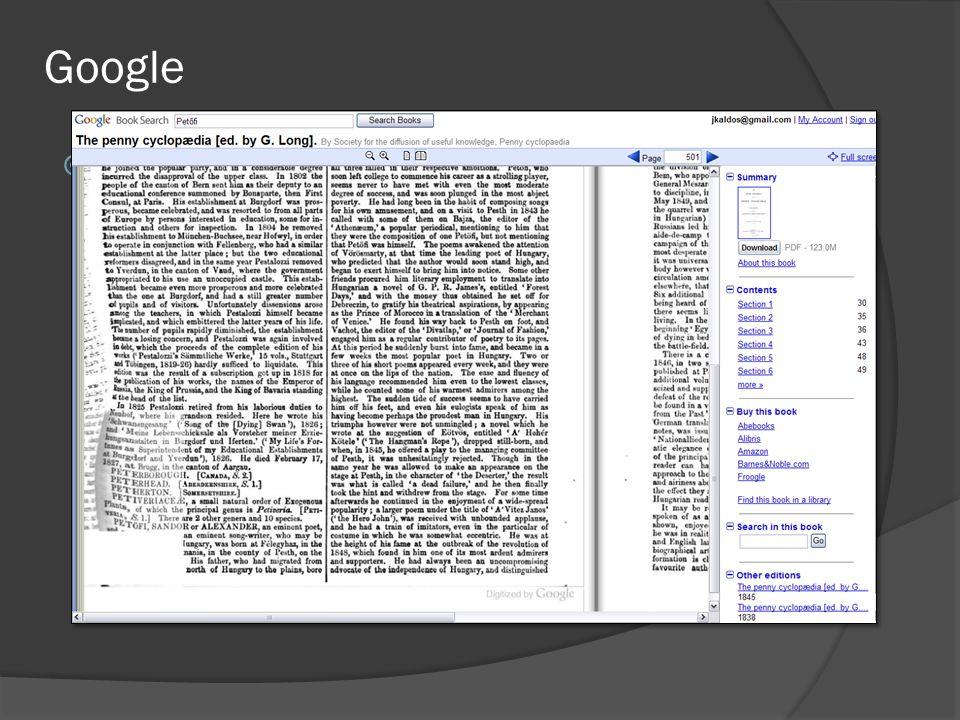 Google  http://books.google.com http://books.google.com