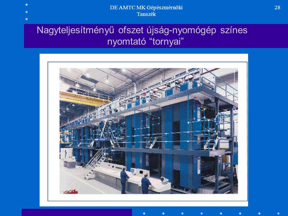 """DE AMTC MK Gépészmérnöki Tanszék 28 Nagyteljesítményű ofszet újság-nyomógép színes nyomtató """"tornyai"""""""