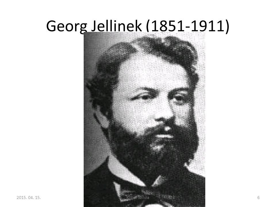 Georg Jellinek (1851-1911) 62015. 04. 15.Köbel Szilvia