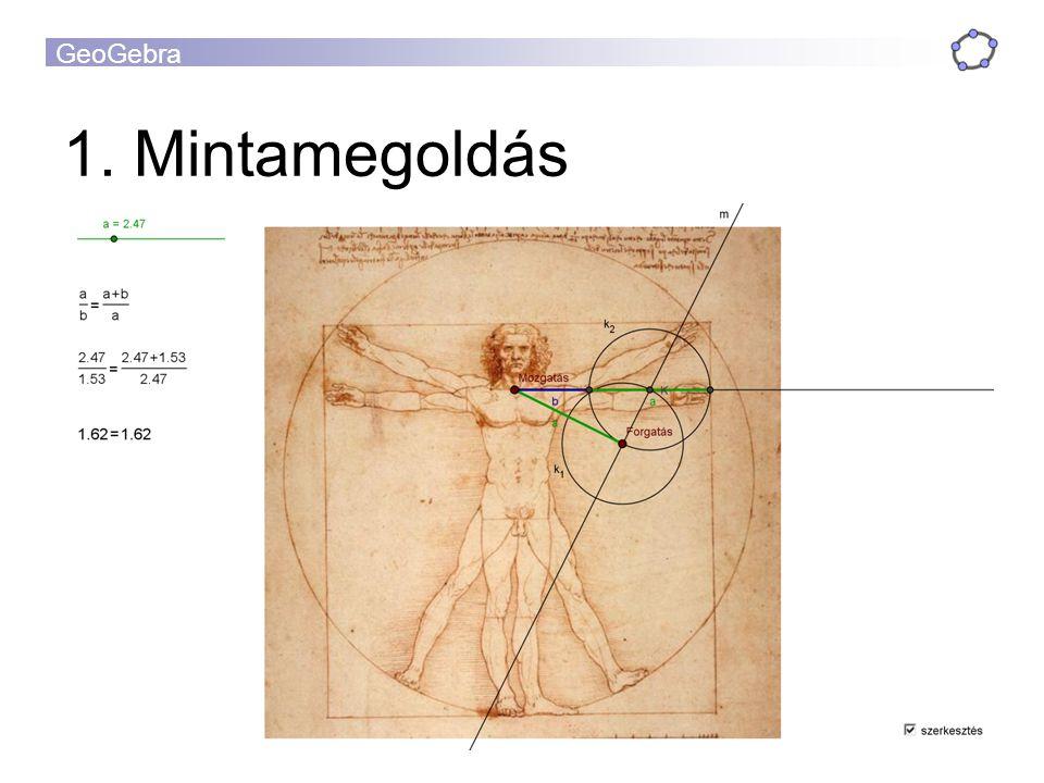 GeoGebra 1. Mintamegoldás