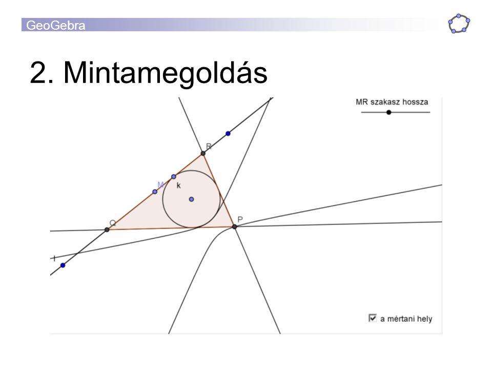 GeoGebra 2. Mintamegoldás