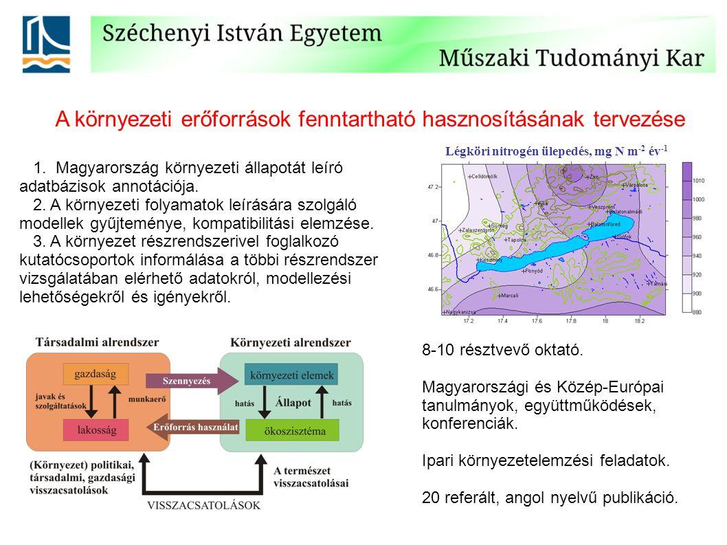 A környezeti erőforrások fenntartható hasznosításának tervezése 1.