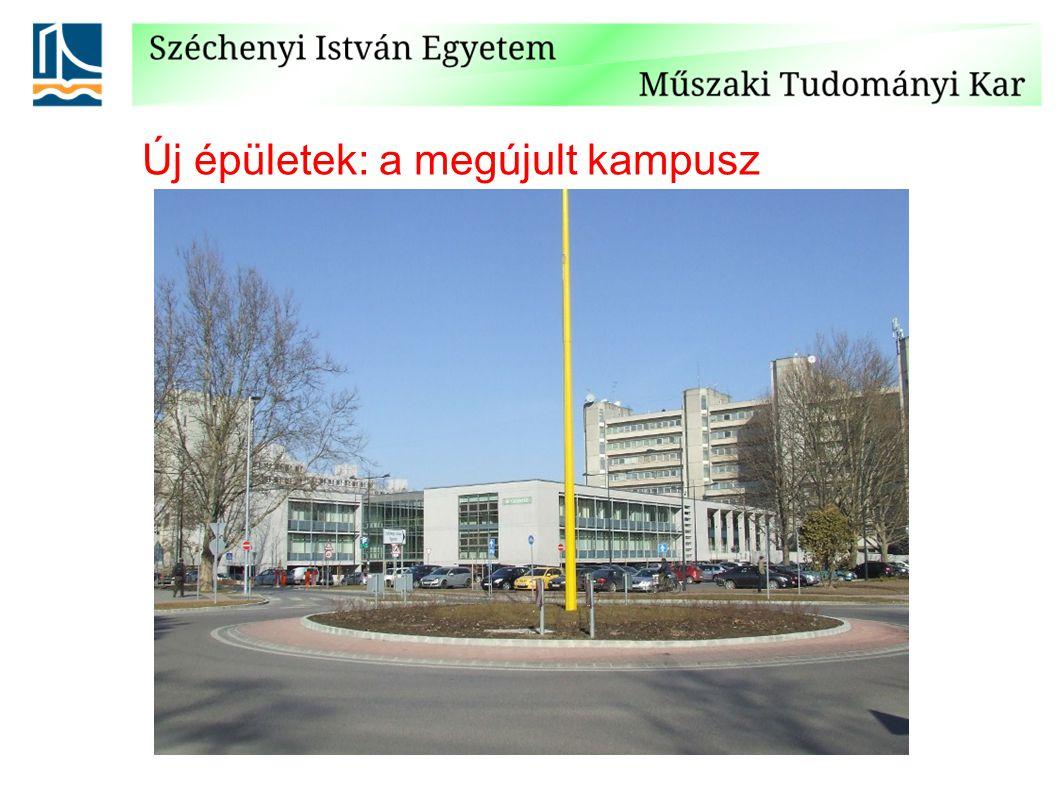Új épületek: aula