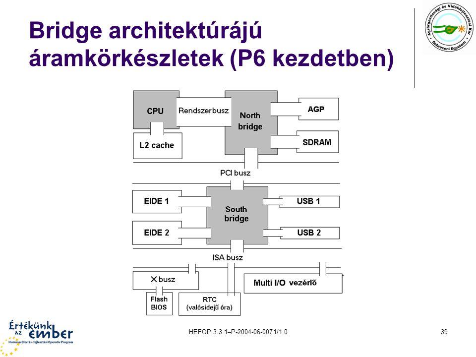 HEFOP 3.3.1–P-2004-06-0071/1.039 Bridge architektúrájú áramkörkészletek (P6 kezdetben)