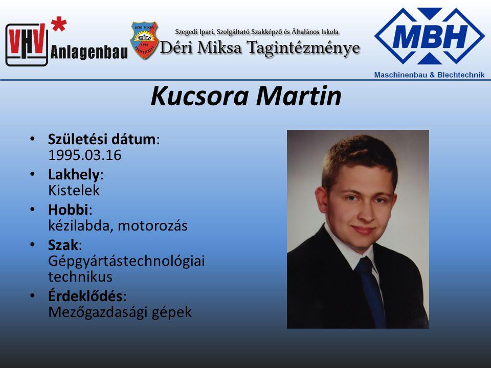 Nagy Attila Születési dátum: 1994.10.