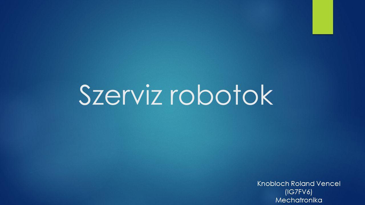 Szerviz robotok Knobloch Roland Vencel (IG7FV6) Mechatronika