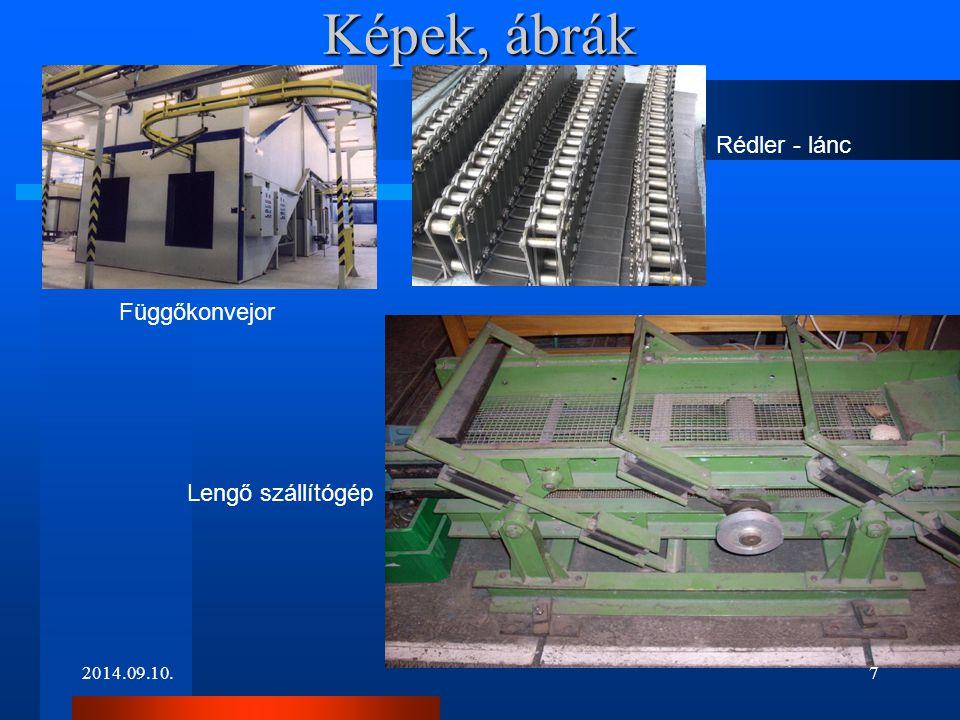 Képek, ábrák 2014.09.10. Függőkonvejor Rédler - lánc Lengő szállítógép 7