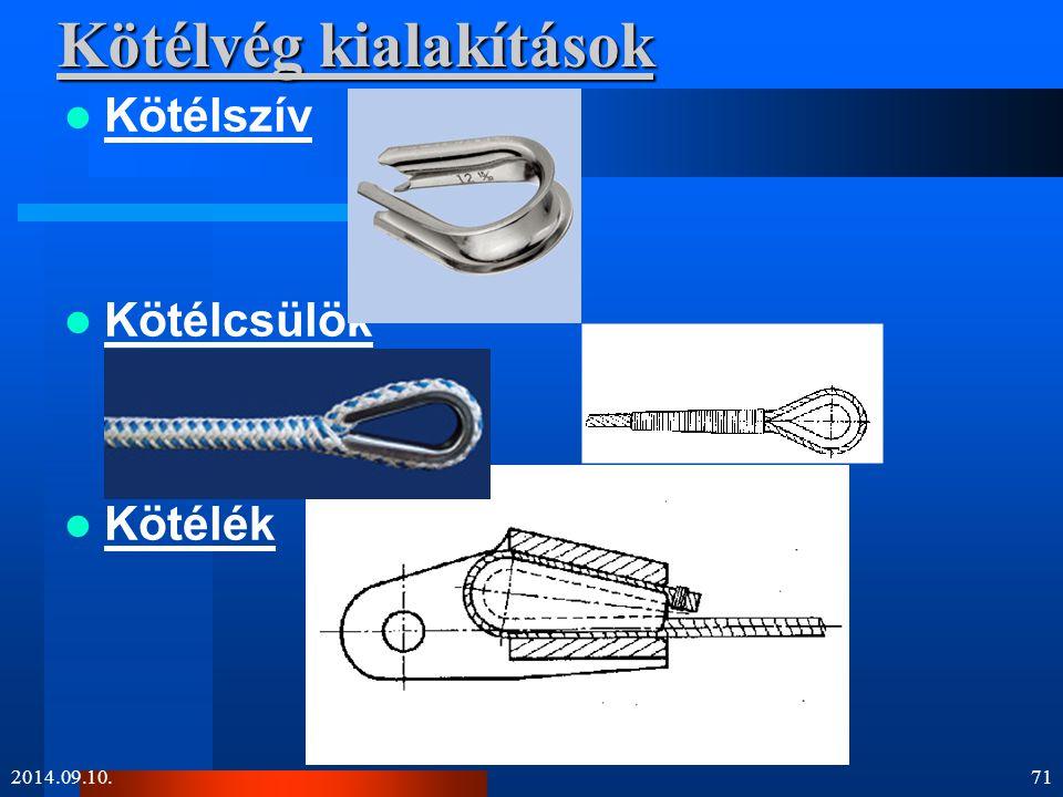 Kötélvég kialakítások Kötélszív Kötélcsülök Kötélék 2014.09.10.71