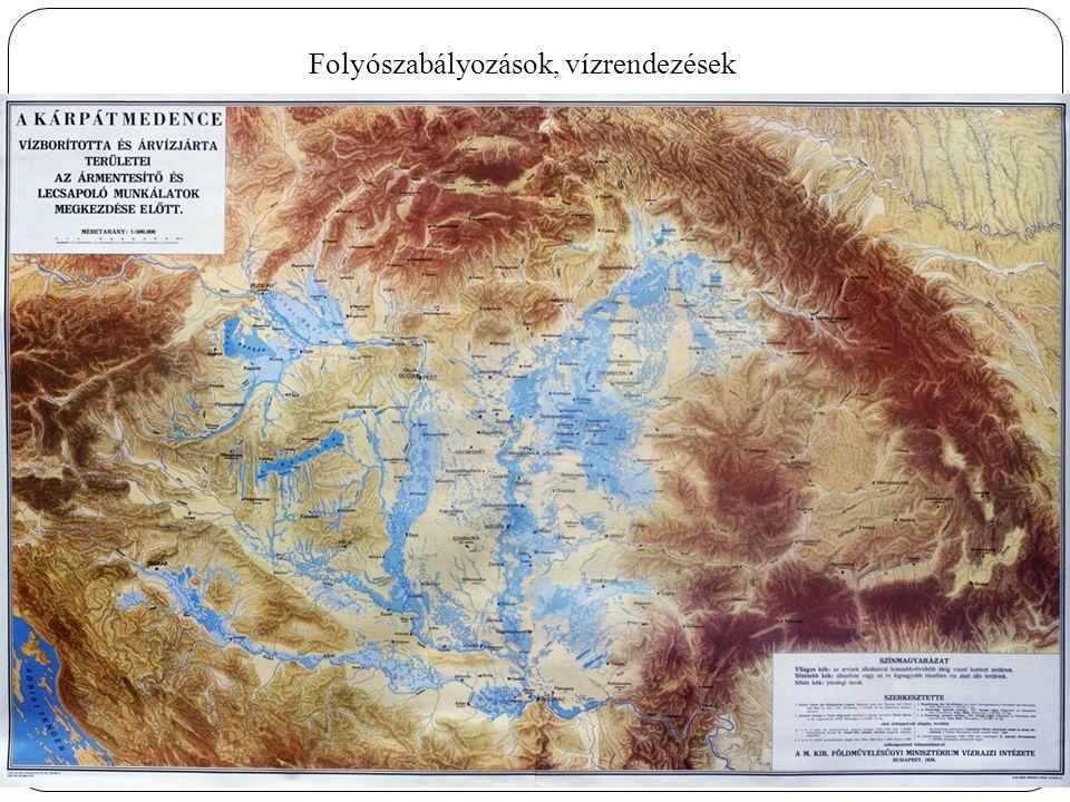 Folyószabályozások, vízrendezések