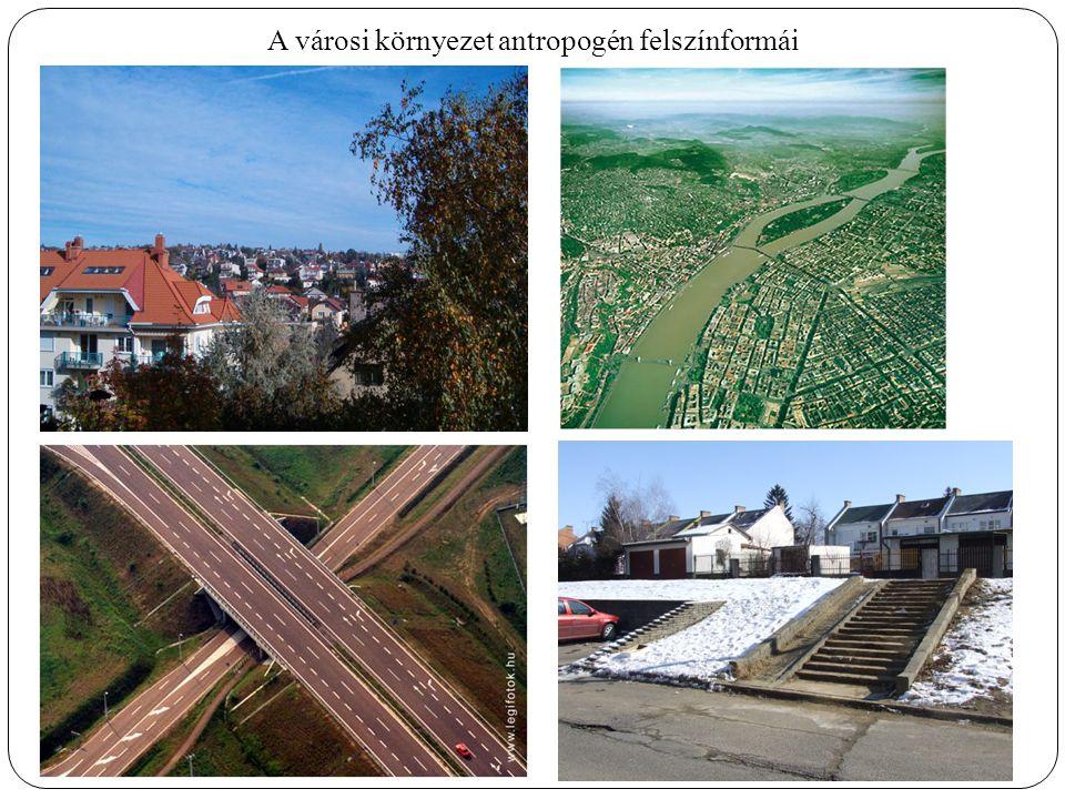 A városi környezet antropogén felszínformái