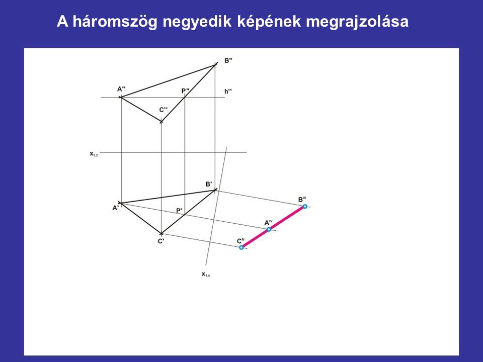 A háromszög negyedik képének megrajzolása